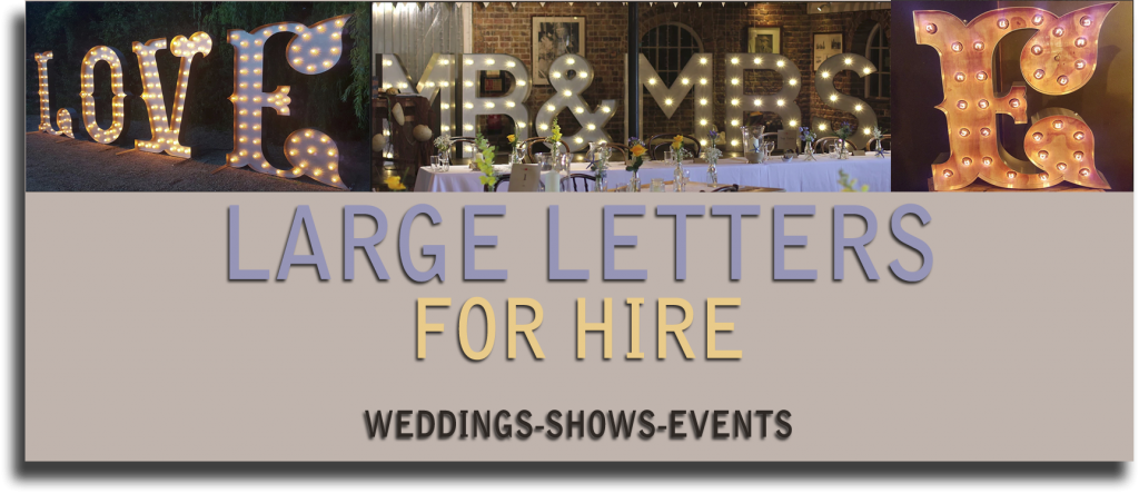 hire large light up letters